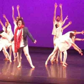 Performing at the Spring Dance Concert 2017 at The Lovinger Theatre