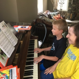 During the short time that Hudson has been with me, he has made excellent progress and is becoming an accomplish pianist.