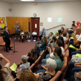 My last recital with a packed out choir room with family members and friends of my students.
