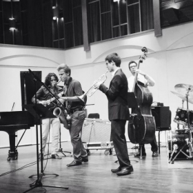 """Small Ensemble"" jazz performance in CSUN Recital Hall"