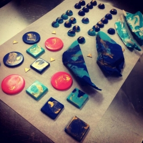 Casting & Creating Chocolate Gems with hand painted edible gold