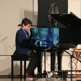 Trainor performs at this high-school graduation show