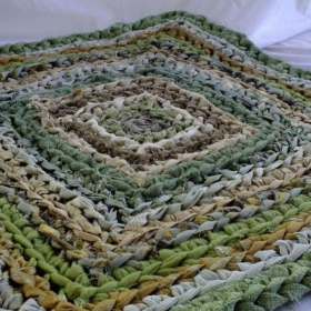 spring green square rug