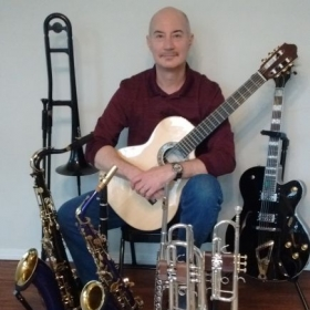 Me and some of my instruments