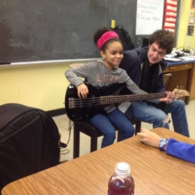 Cole with a beginner student