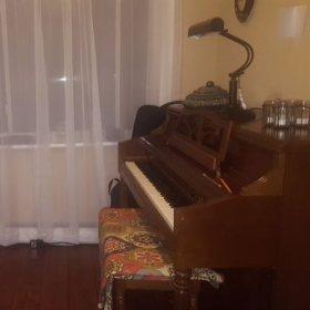 My piano studio.
