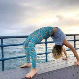 Yoga on the pier.