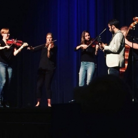 Opening with World Fiddle Ensemble for French-Canadian duo, Yann Falquet & Pascal Gemme at Belmont University.