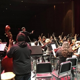 Conducting an Intermediate School Varsity Orchestra - Fall 2016