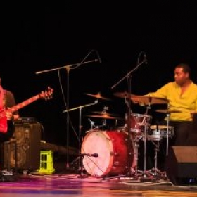 Performing with Wahh World Fusion Band at a Shruti Foundation event