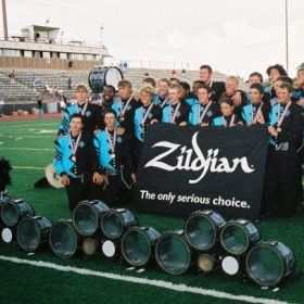 Working with Teal Sound drum & bugle corps in 2004. The DCI Div III percussion champions
