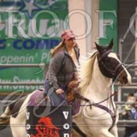 Yvanna and I barrel racing