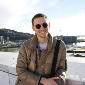 Here I am, on top of the Opera house in Oslo, Norway!