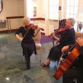 Playing with Peoples String Trio in Fresno, California
