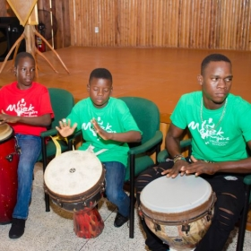 Majekfingers DRUMMING School Performing ant Feel The Rhythm Of the Drums Guyana