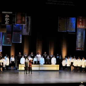 Photo from The Mikado with Townsend Opera. Ally understudied for Pitti-Sing and sung in the chorus.