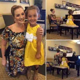 Myself and a darling piano student of mine at my studio's Spring Recital this year!