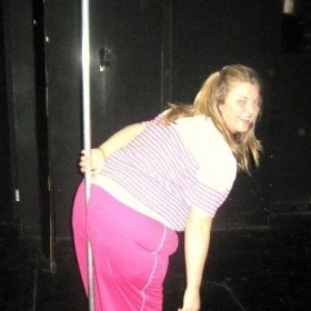 Me in a fat suit playing a character in a play!