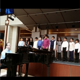 December 2014 Piano Recital (Since it was Christmas time, we sang a few pieces from The Sound of Music)