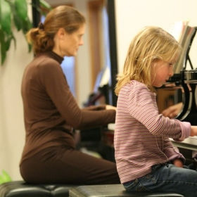 Our work is done on my two grand pianos to give students the best piano experience at lessons.