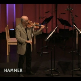 Performing with violinist Movses Pogossian at the UCLA HAmmer Museum 04/19/16