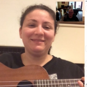Another great lesson with one of my online ukulele students!