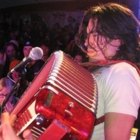 Accordion with The Whiskeydicks at Sunstroke Music Festival in Whitehorse, Yukon 2009