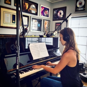 "Recording my single ""Bishops and Kings"" at the home studio of seven-time Grammy nominee Graham Edwards"