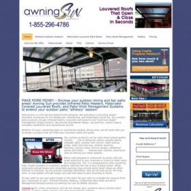 Awning Sun Home page - Before redesign