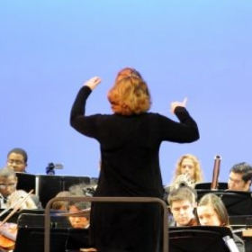 Conducting the Old Dominion University Symphony Orchestra
