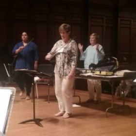 Leading a session on bowing techniques at the Paul Rolland String Pedagogy Workshop at the University of Illinois 2017.