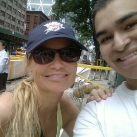 Kristin Chenoweth and I in Times Square.