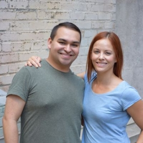 Actress Amy Paffrath and I after her headshot photoshoot in Manhattan.