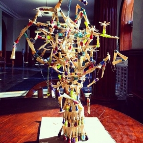Reed tree!... what we do when taking a break from making them.