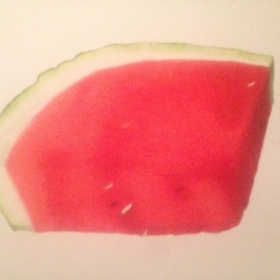 Watermelon_2017_Colored pencil on paper_