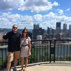 with my husband in Pittsburgh