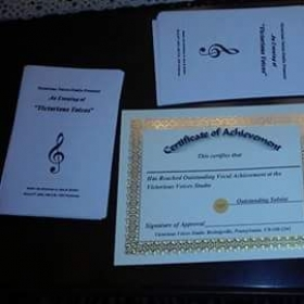 Recital programs and certificates 😊
