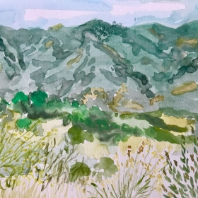 Plein Aire Landscape watercolor