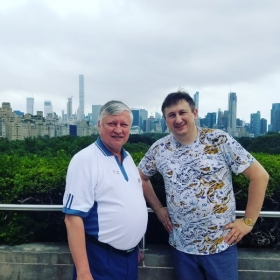World Champion Anatoly Karpov and I in August 2017