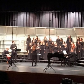 Conducting my non-varsity women's choir at UIL.