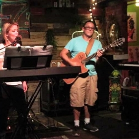 Performing at Planet Sarbez! in Saint Augustine Beach, Florida
