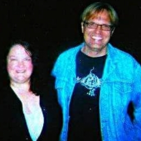 Here I am with Lance Haaland, an actor/friend I worked with on TV shows and films in Hollywood, California!