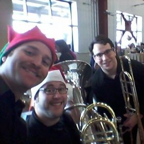 Spreading holiday cheer low brass style!