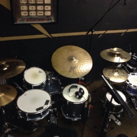 My drum lesson studio in Austin, TX!