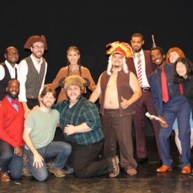 The cast and crew of Great Frontier at the NY Theatre Festival.