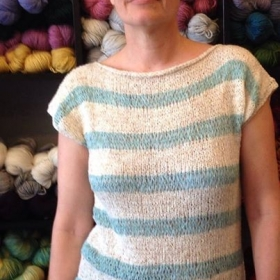 A tee shirt Design.. Fun and Easy to Knit.