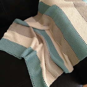 A Baby Blanket Design I did and Knitted up-Easy!