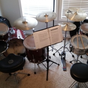 Two Drum sets in my home studio for the best lesson experience!