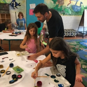 Teaching painting to forth graders