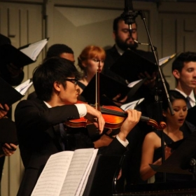 Throwback to my violin solo for the Azusa Pacific University Chamber Singers Concert 'I Carry Your Heart With Me' on 11/11/16